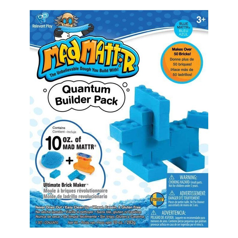 Teal MAD MATTR Quantum Builders Pack with Ultimate Brick Maker 10oz